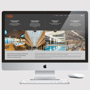 image of lighting website design