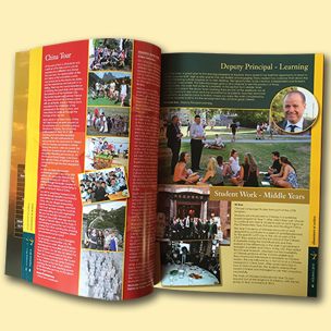 image of school yearbook design