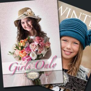 Image of kids fashion label brochures