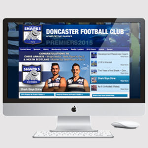 image of a australian football website design