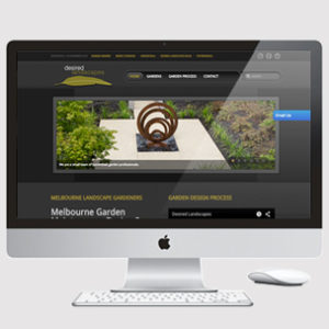 image of a landscape designer website design
