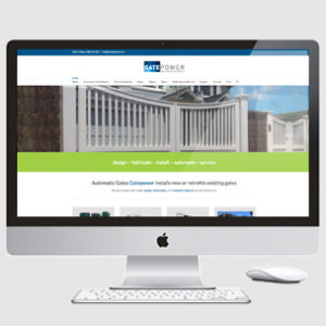 image of gate company website design