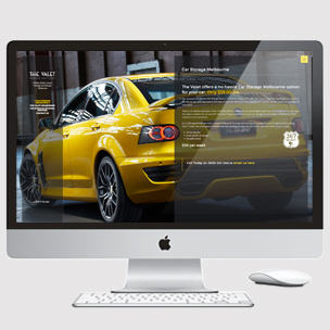 image of car storage Website design