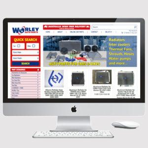 image of auto parts website design