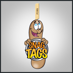 Sausage animated logo for snag tags