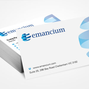 image of a globe logo for financial company business cards