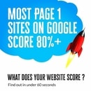 Nearly every website that ranks page one in a google search scores over 80% in our free auditor test.